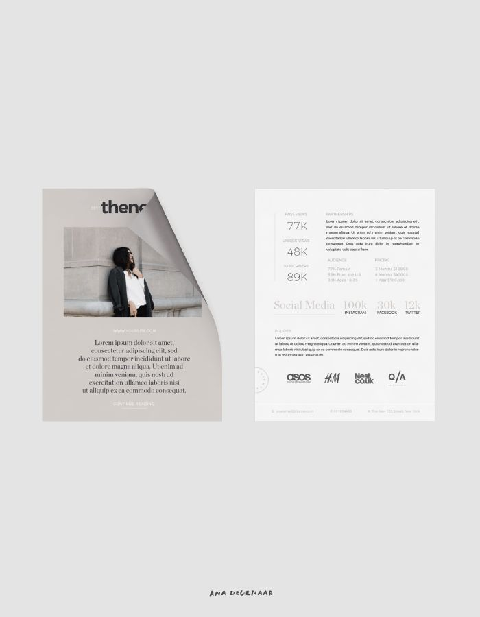 Personalized Media Kit Design - Get yours!