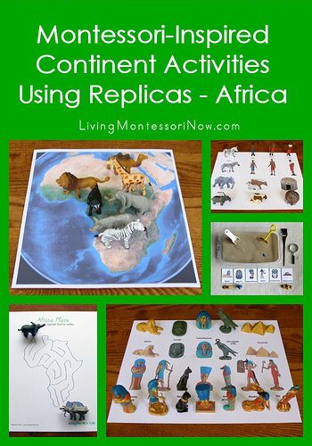 Montessori Monday: Montessori-Inspired Continent Activities Using Replicas and Free Printables – Africa