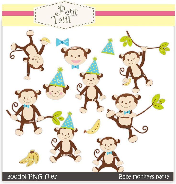 baby monkey clip art-#50