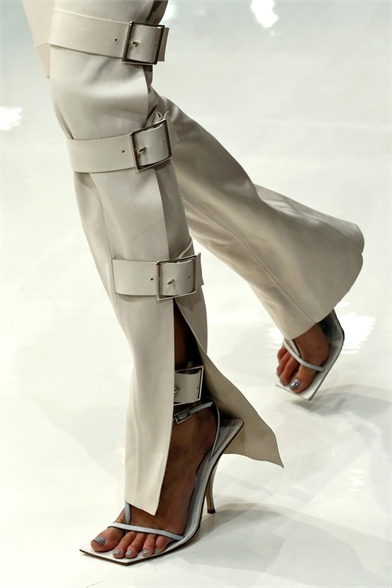 White leather sandals from Acme 2013 London Fashion Week Show.
