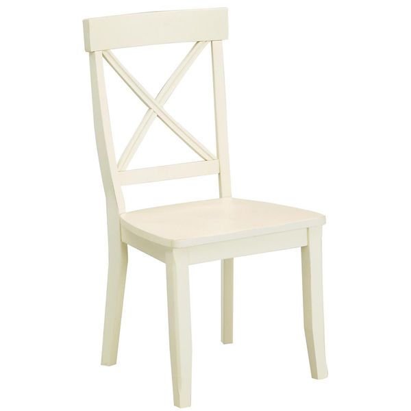 antique white finish dining chairs set of 2 arm back furniture mid modern seat