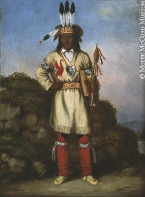 Aboriginal Chief, Chippewa, the Eclipse or Wabumagoging cornelius krieghoff