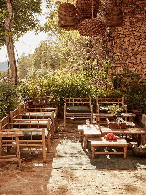 farmhouse — La Granja, Ibiza love the chairs.