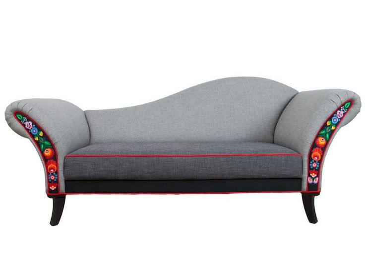 Folkowa Sofa Wovich! Gray, Polish interior design, Polish Folk, Polish design, polski dizajn, polskie wzornictwo, made in Poland. Pinned by #AdrianWerner
