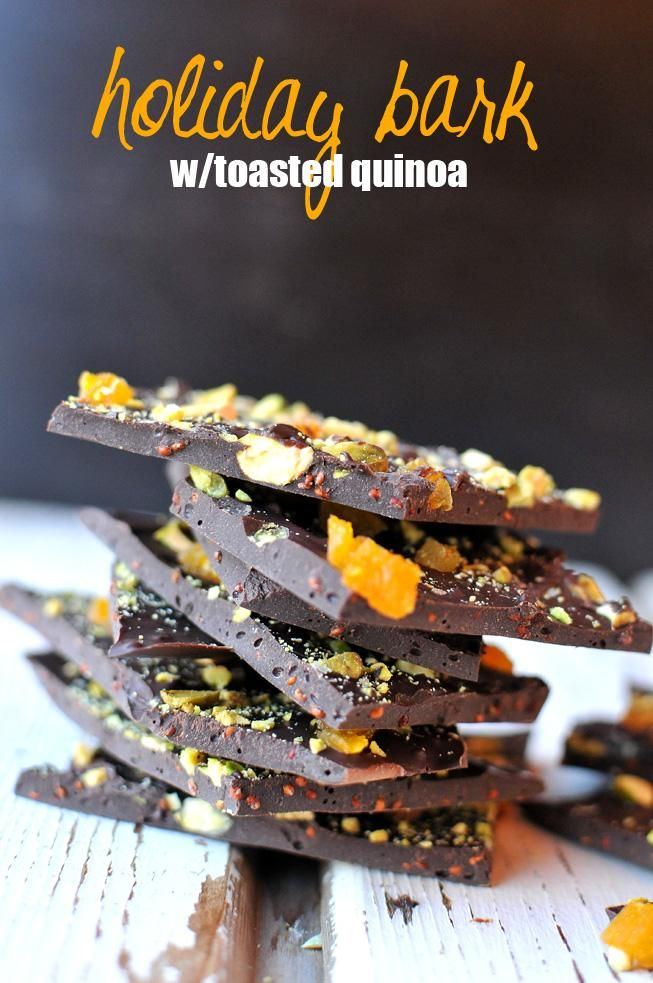 Holiday Bark with Toasted Quinoa
