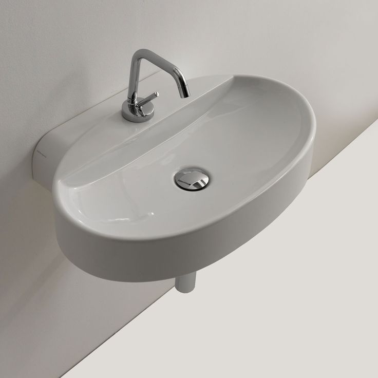 Cento Ceramic 24 Quot Wall Mount Bathroom Sink Wall Mounted