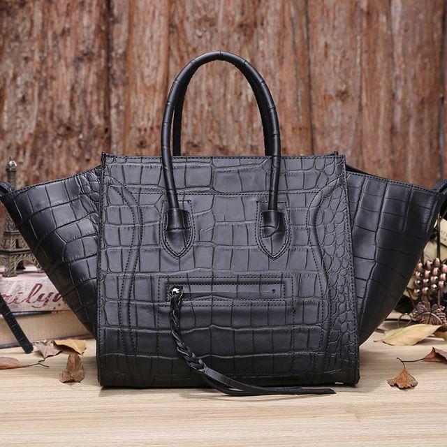 Уши сумка-мессенджер натуральная кожа женщины в сумочка бита крокодиловая кожа кожа смайлик лицо наплечная сумка тотализатор