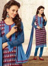 Multi Color Beautiful & Elegant Chanderi Fabric Straight Suit