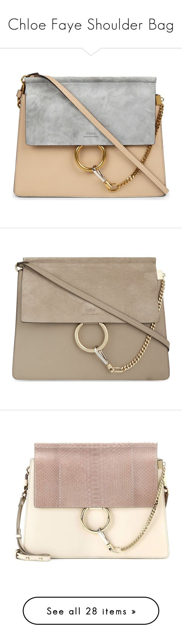 """Chloe Faye Shoulder Bag"" by mplusk ❤ liked on Polyvore featuring bags, handbags, handbag satchel, satchel hand bags, satchel handbags, chloe satchel, suede leather handbags, black, real leather handbags and chloe handbags"