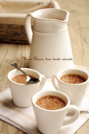 Crème dessert au lait de noisette, chocolat et café - sans lait 50cl lait > 4càs arrow-root