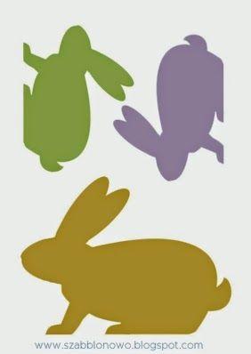 Free printable Easter bunny shape.
