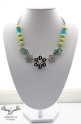Collier Vert et marées (bijou #60)