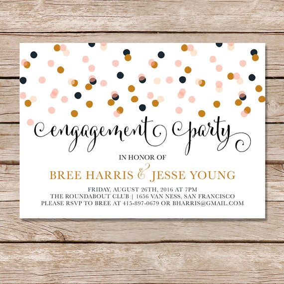 Modern engagement invitation / engagement party invitations /