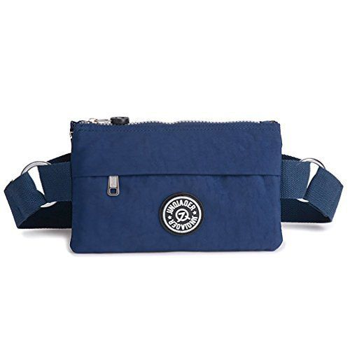 New Trending Bumbags: TESOON Womens Super Slim Close Fitting Waist Bag Dark Blue. TESOON Womens Super Slim Close Fitting Waist Bag Dark Blue   Special Offer: $12.99      166 Reviews Product Features 1.Made of water-resistant nylon fabric, lightweight, foldable and washable 2.Multilayer design for better organizing your stuffs. 3.This product has three zippered pockets...