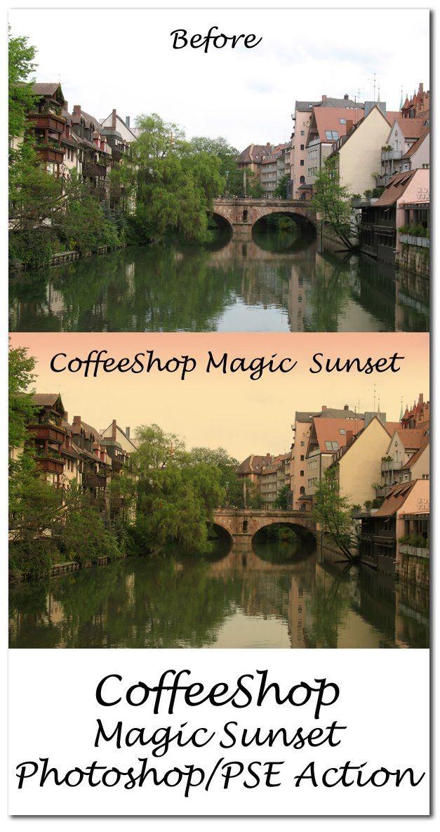 The CoffeeShop Blog: CoffeeShop Magic Sunset Free Action!