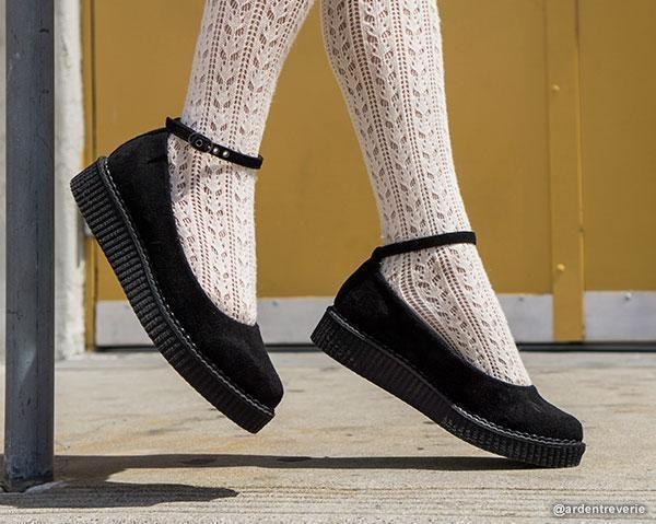 Black Pointed Ballet Ankle Strap