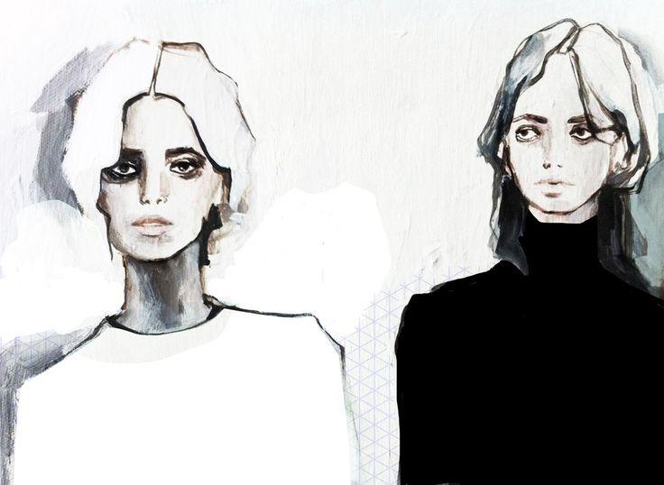 The couple.  ©BUKANOVA #fashionillustration #painting #illustration