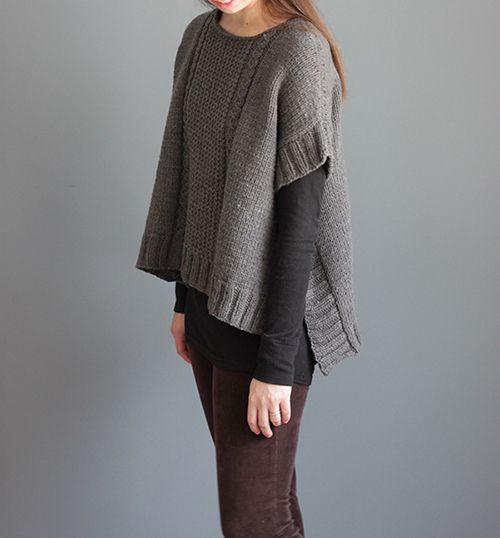 NobleKnits.com - The Brown Stitch Margo Poncho Knitting Pattern, $7.95 (http://www.nobleknits.com/the-brown-stitch-margo-poncho-knitting-pattern/)