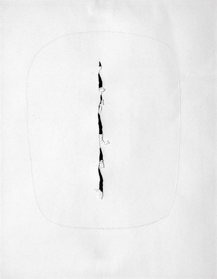 FONTANA LUCIO  Concetto spaziale 1966  70x50 carta assorbente  Opera registrata presso l'Archivio Fotografico Lucio Fontana con il n. 348/4 in data 24/2/1970