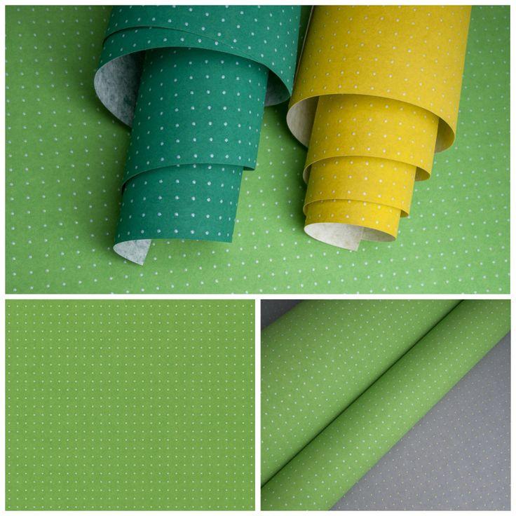 Коллекция обоев Arte с практически абсолютным попаданием в цвет greenery. Обои Le Corbusier Dots или «Точки Ле Корбюзье» могут похвастаться микроскопическим узором, нанесенным глянцевым лаком. Блестящие бусинки выполнены в 40 цветовых вариантах, и один из самых впечатляющих, разумеется, зеленый!