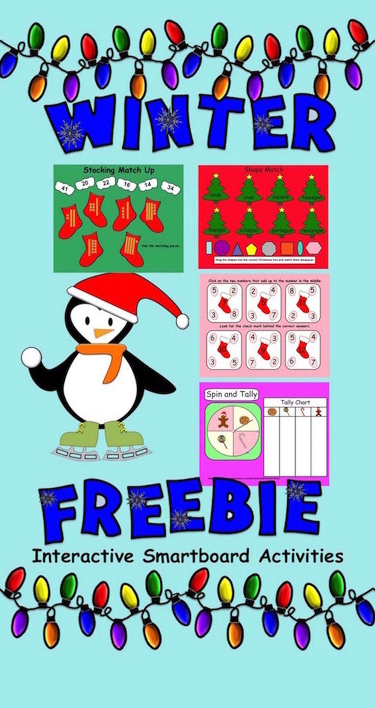 FREEBIE: Interactive Winter Smartboard Activities for Gr. 1 | TpT Math ...