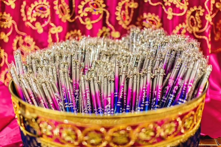 Dandiya sticks ready for the Garba/Raas event of the evening. Chicago based Wedding Photography by www.sapanahuja.com