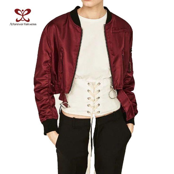 New Spring Fashion Women's Bomber Jacket Short Double Zipper Stand Collar Long Sleeve Basic Jacket Women's Jackets