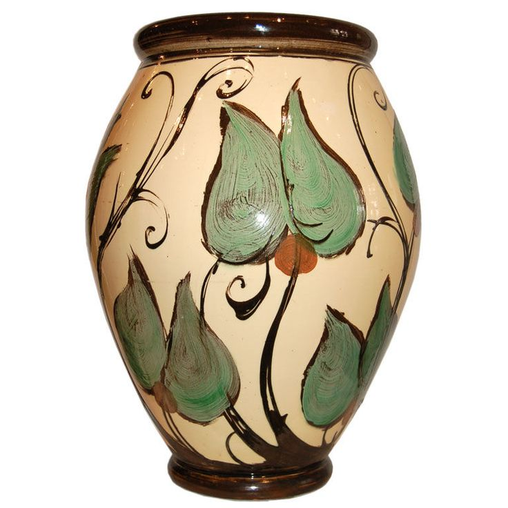 1920's Ceramic Floor Urn for Herman Kahler, Denmark