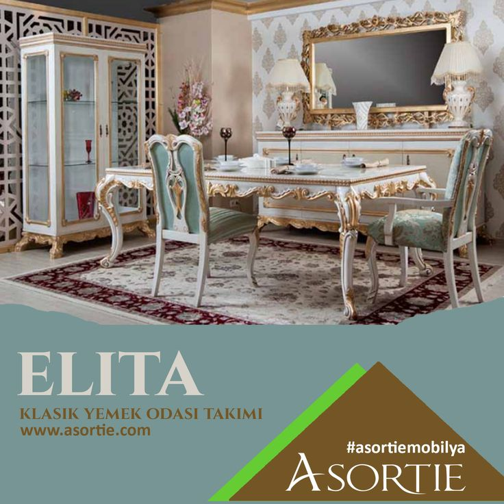 Elita Klasik Yemek Odas Takm Classic Dining Room Team Classicfurniture Furniture Furnitureturkish Decoration Architecture Africa Turkey