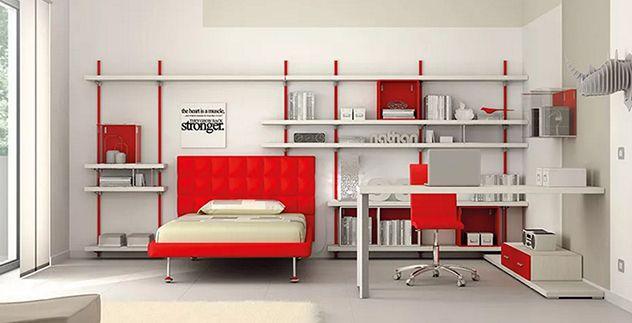 #camerette  #moretticompact #arredamento #bimbi #letto #funzionalità #salubrità #red