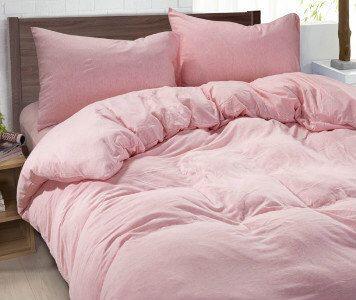 Ballet Slipper Pink duvet cover made of 100% ultra soft linen, pink bedding, Twin Bedding, Dorm bedding, queen duvet cover, king duvet cover by CustomLinensHandmade on Etsy https://www.etsy.com/listing/234166473/ballet-slipper-pink-duvet-cover-made-of