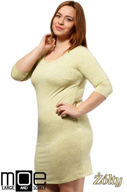 Dopasowana sukienka mini w rozmiarze Size Plus.  #cudmoda #xxl #moda #ubrania #sukienki #clothes