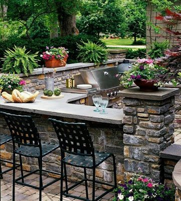Landscaping and Interior Decoration: Outdoor kitchen