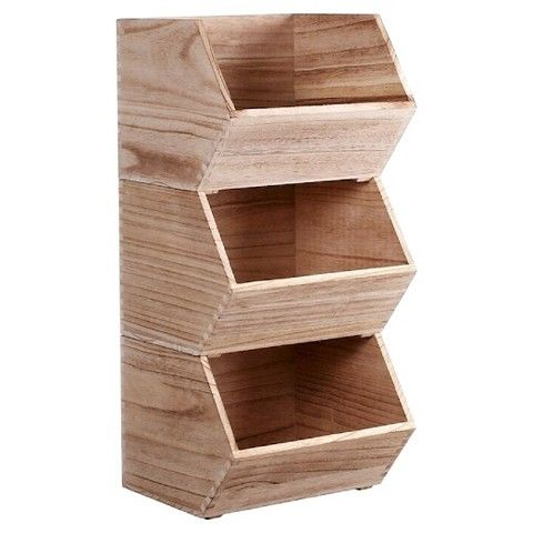 Stackable Wood Bin Small - Pillowfort™