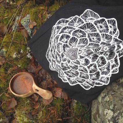 Käpymandala -kangaskassi | Weecos