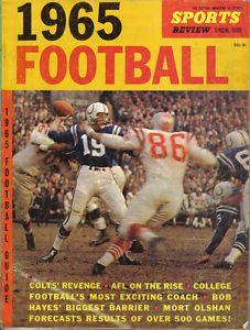 1960s sports magazines johnny unitas | 1965-Sports-Review-Magazine-Football-Guide-Johnny-Unitas-Baltimore ...