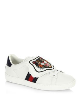 Gucci New Ace Sneaker With Tiger Patch