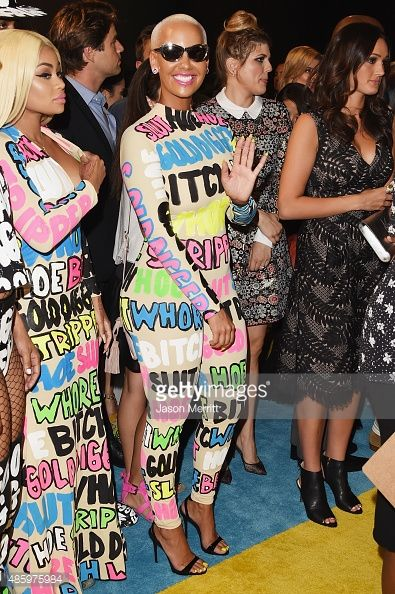 Models Blac Chyna and Amber Rose attend the 2015 MTV Video Music Awards at Microsoft Theater on August 30 2015 in Los Angeles California