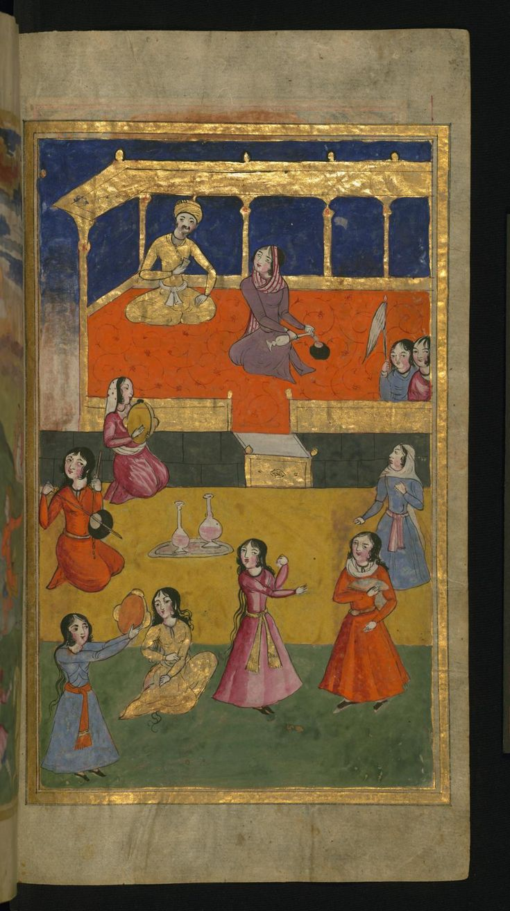 A Court Scene with Musicians and Dancers - Collection of Poems (masnavi). Walters manuscript W.626