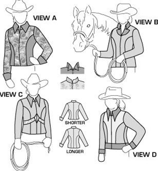 SuitAbility sells sewing patterns for horse riding apparel and horse clothing and equipment.