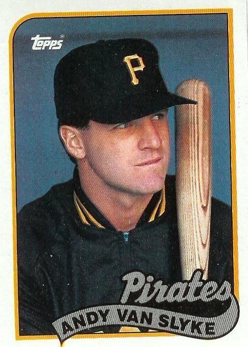 1989 Topps #350  Andy Van Slyke  Pittsburg Pirates  Baseball Card - MINT #PittsburghPirates