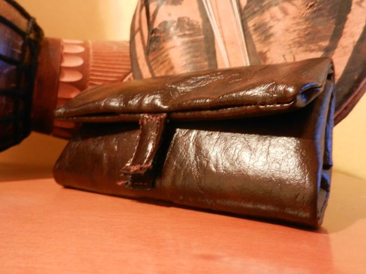 brown leather tobacco handmade case*