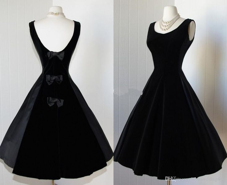 Prepare the prom dress patterns for the upcoming prom? Then you need to see Delicate Black Satin Prom Dresses 2014 Scoop Tea Length Backless Little Black Dresses Vintage 1950s Dress Cocktail Party Dress with Bows new in lovewedding888 and other dresses long and emo prom dresses on DHgate.com.