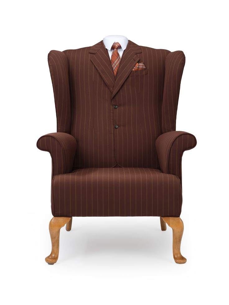 The Suit Wing Chair, Eclectic Cocktail Of City Gent Attire Meets Furniture Art In A Functional Form