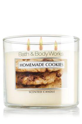 Homemade Cookies 14.5 oz. 3-Wick Candle - Slatkin & Co. - Bath & Body Works