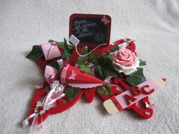 Tischdeko Einschulung Schulanfang Fur Madchen Schmetterling Rot Rosa