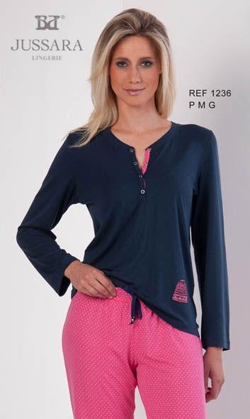 Pijama feminino Bordados Jussara 1236