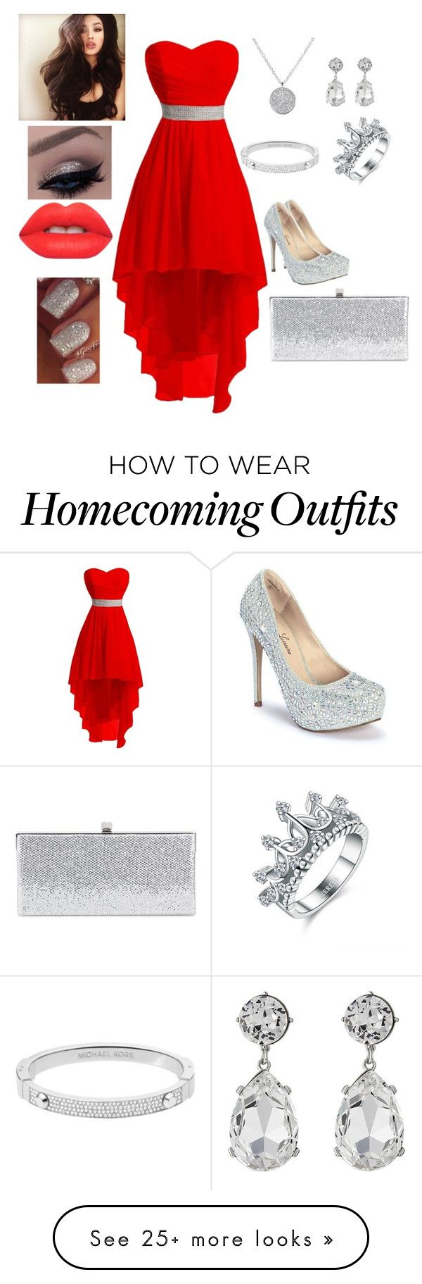 """2016 Prom"" by gillum306 on Polyvore featuring Lauren Lorraine, Kenneth Jay Lane, Michael Kors, Jimmy Choo and Lime Crime"