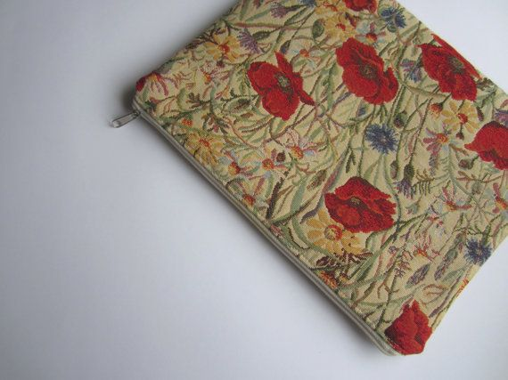 Poppies MacBook 13 sleeve with zipper MacBook Air by StudioSleeve, $27.00