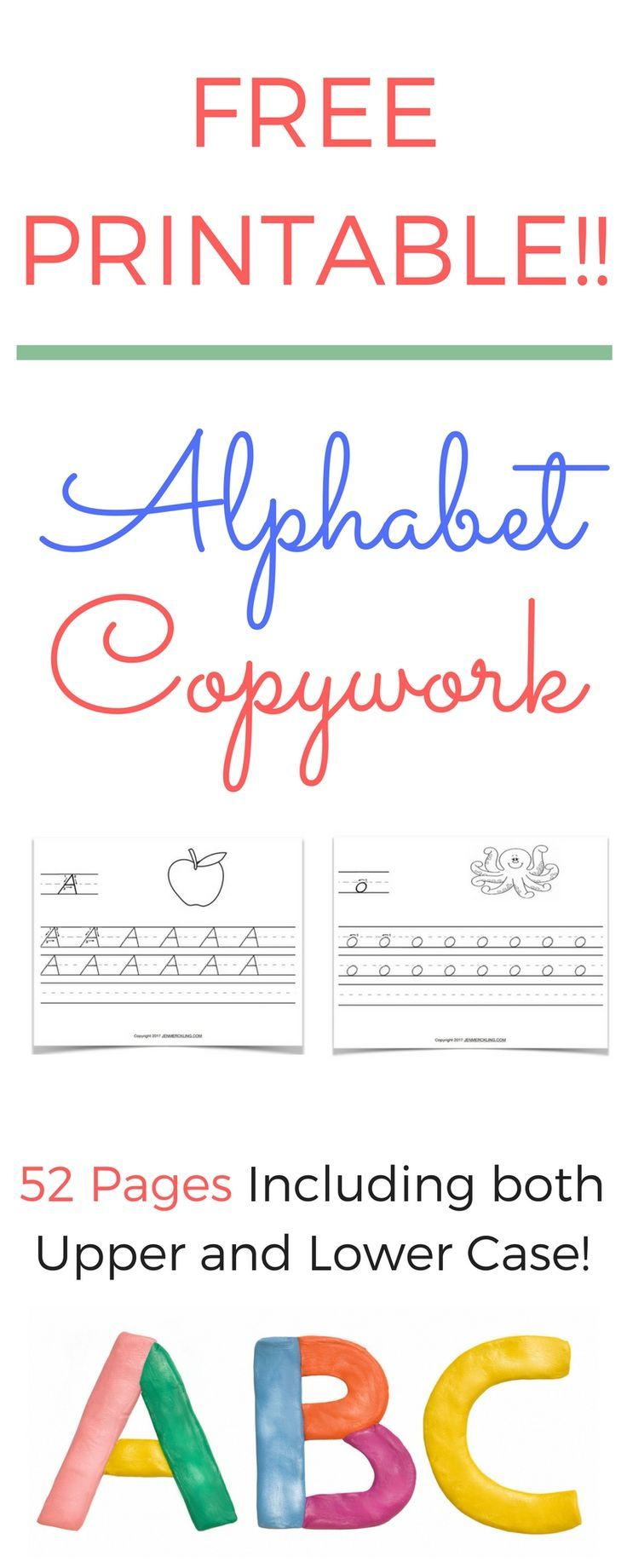 Worksheets Free Printable Handwriting Worksheets free handwriting worksheets for kids practice alphabet copywork printable upper and lowercase letters improve your childs incr